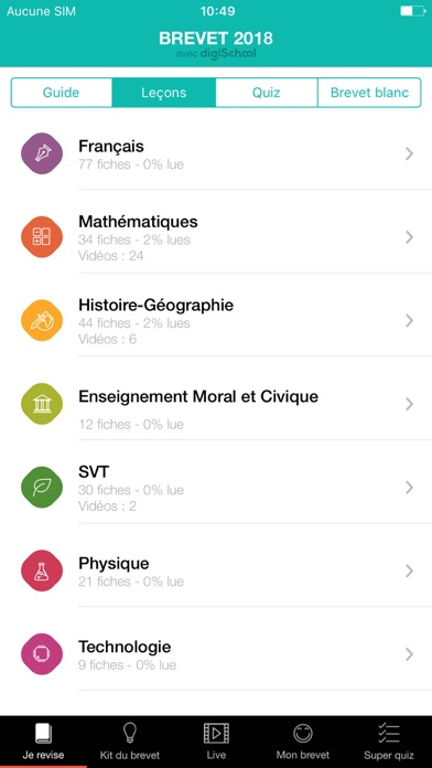 download Brevet 2018 avec digiSchool apps 1