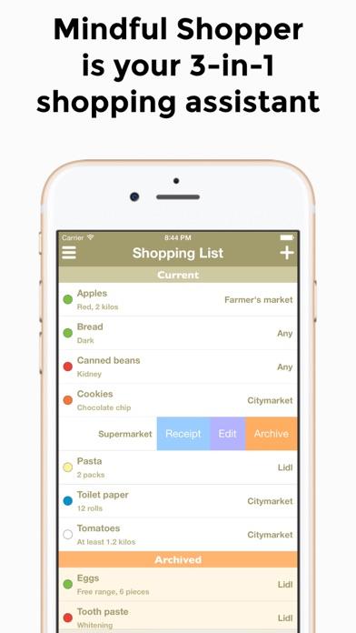 Mindful Shopper 3-in-1 Screenshots