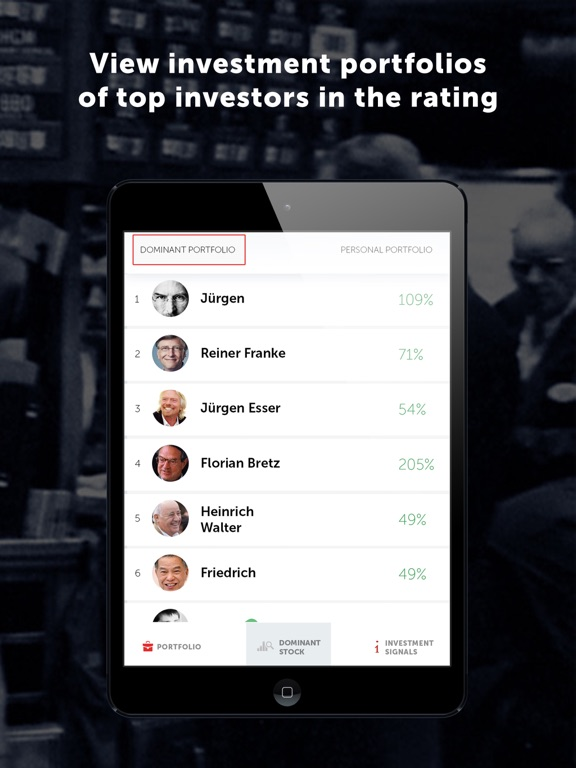 Dominant investors Screenshots