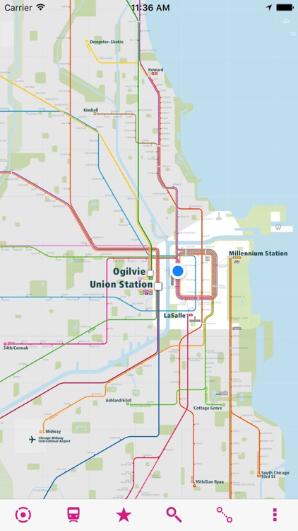 Chicago Rail Map by UrbanMap