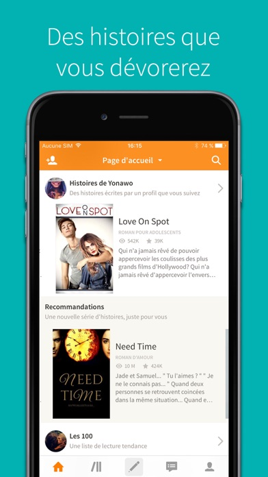 download Wattpad apps 3