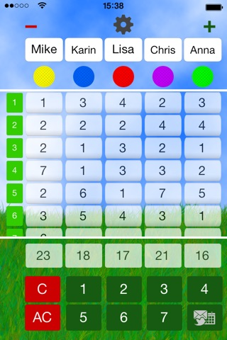 Mini Golf Score Card screenshot 1