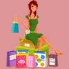 Shopping Girls Stickers
