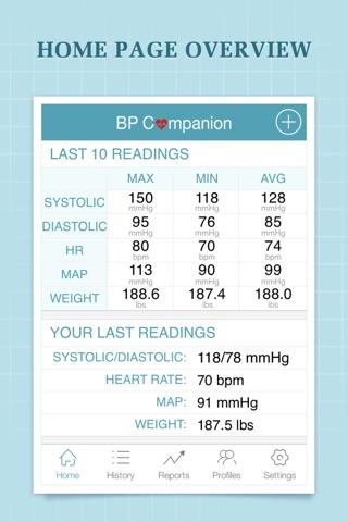 Blood Pressure Companion Pro screenshot 1