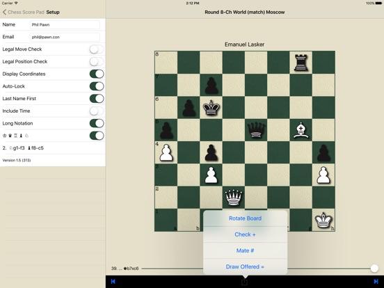 Chess Score Pad Скриншоты8