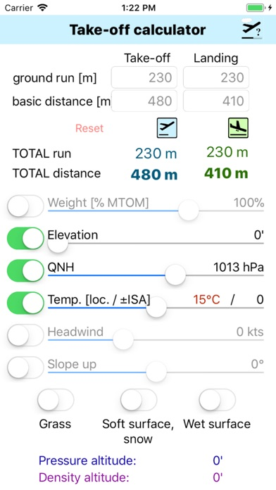 Screenshot for Take-Off Distance in Belgium App Store