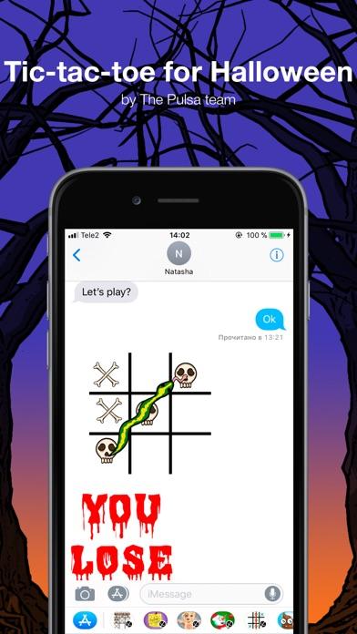 Крестики-нолики - ХеллоуинСкриншоты 1