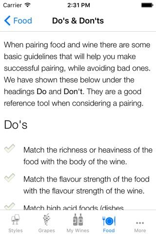 Pocket Wine Pairing screenshot 2