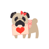 Maksym Mashkov - Pug Love Stickers  artwork