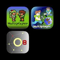 Online Multiplayer edition for Terraria, Minecraft PE, Asphalt 8