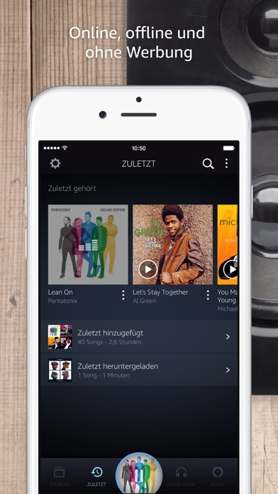 amazon music im app store. Black Bedroom Furniture Sets. Home Design Ideas