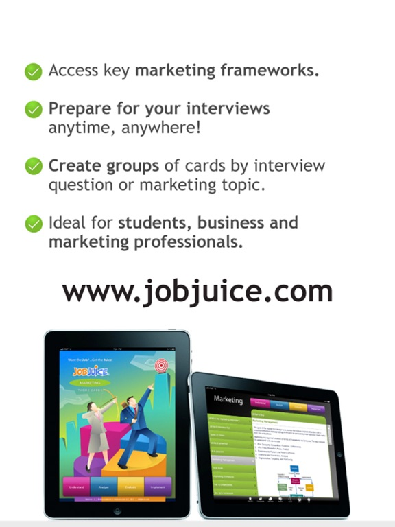 Jobjuice Marketing Screenshots