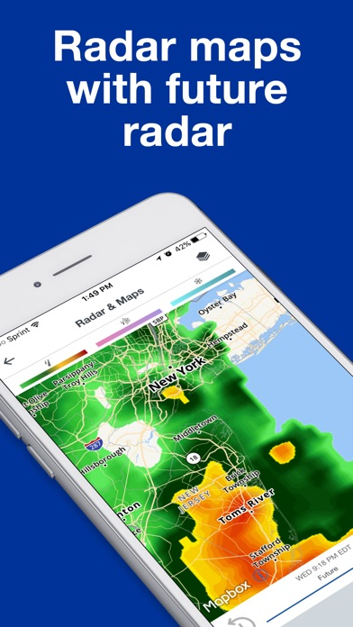 Screenshot 1 for The Weather Channel's iPhone app'