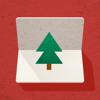 Cardinal Blue - Pine 3D Greeting Cards artwork