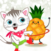 Rajneesh Mishra - Cat Hawaii Stickers  artwork