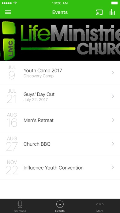 Screenshot of LIFE MINISTRIES CHURCH - Texas App
