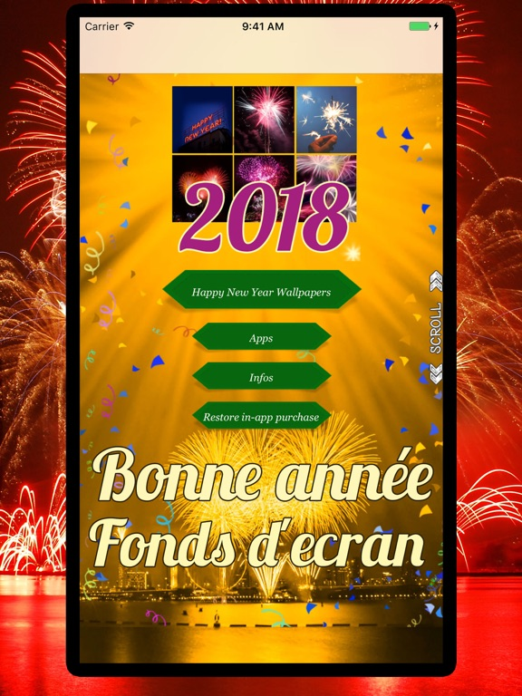 Bonne ann e 2018 fonds d 39 ecran dans l app store for Ecran photo 2018