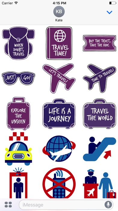 Screenshot of Let's go Travel - Sticker Pack for iMessage1