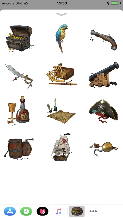 Pirate Sticker Pack review screenshots