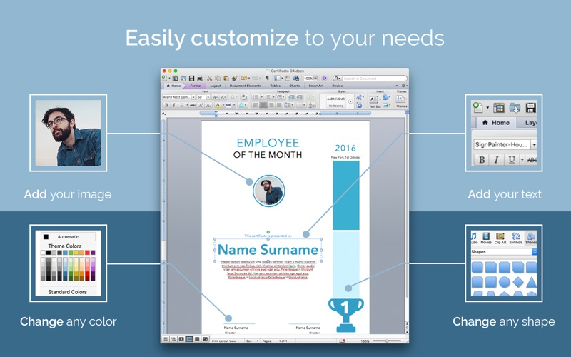 Certificate templates 57 templates for word by onsoftas mb screenshots mac osx yelopaper Images