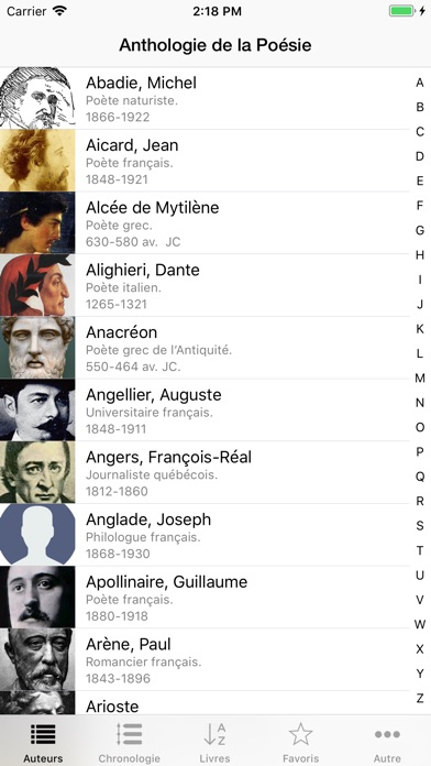 download Anthologie de la Poésie apps 1