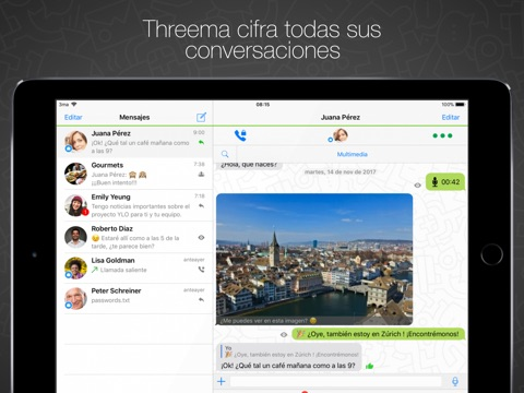 Threema screenshot 1