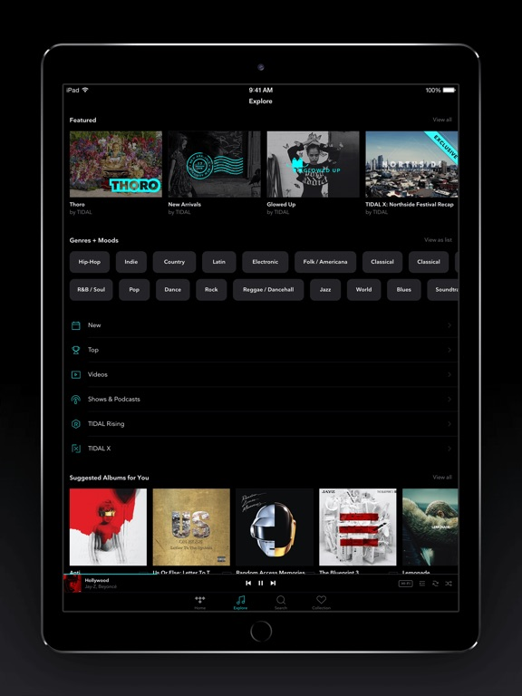 TIDAL Screenshots