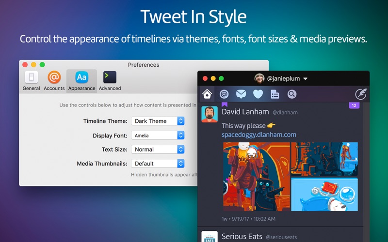 Twitterrific 5 Twitter for Mac 5.2.2 激活版 – macOS Twitter客户端-爱情守望者