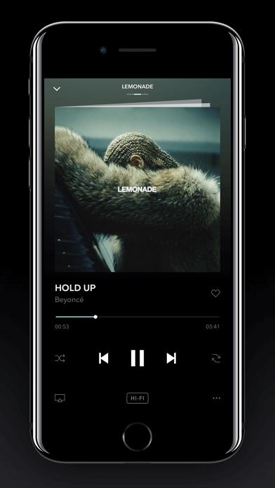 TIDAL iPhone