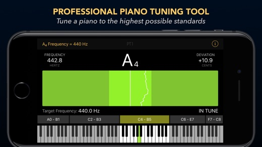 Piano Tuner PT1 released for iOS - Professional Piano Tuning App Image
