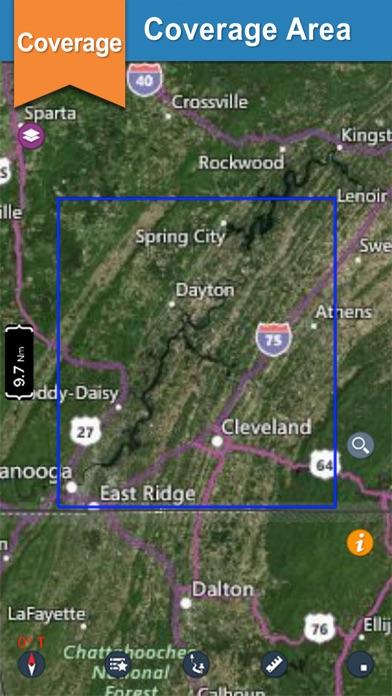 Chickamauga lake gps offline nautical charts app download for Lake chickamauga fishing map