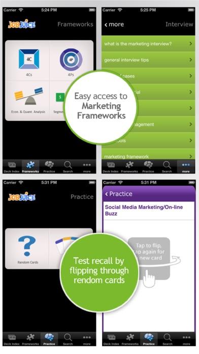 Jobjuice Marketing Screenshots