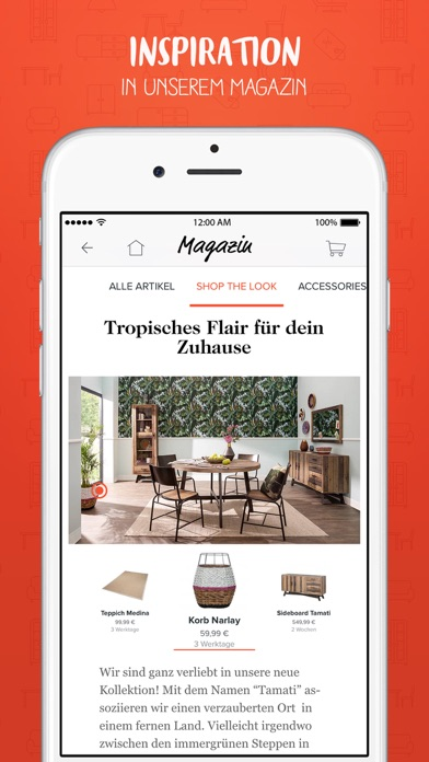 Home24 m bel online shop on the app store for Home24 bewertung