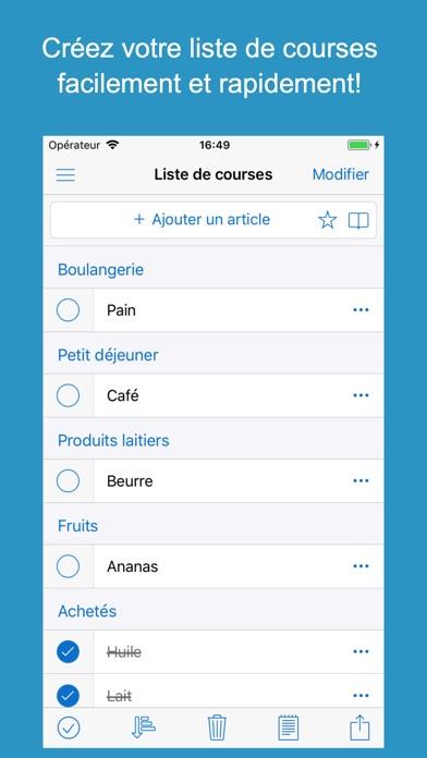 Fabuleux Shoppylist Pro (Liste courses) dans l'App Store KY25