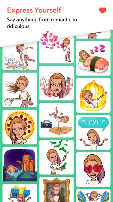 Screenshot of Bitmoji App
