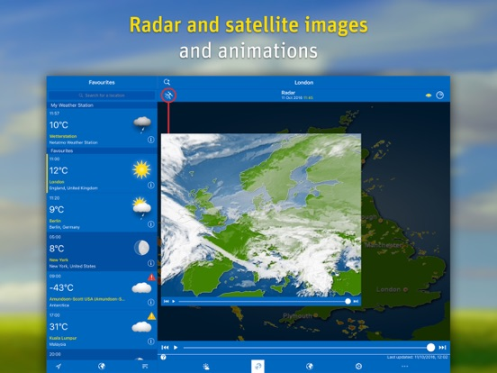 WeatherPro for iPad Screenshots