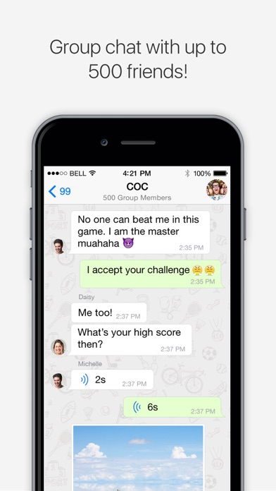 Screenshots of SOMA Messenger for iPhone