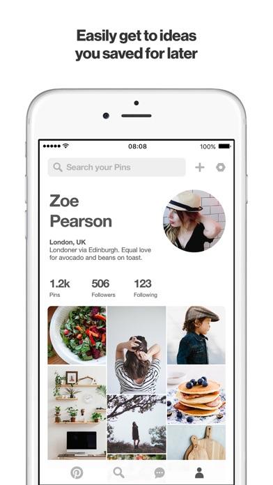 Pinterest Screenshots