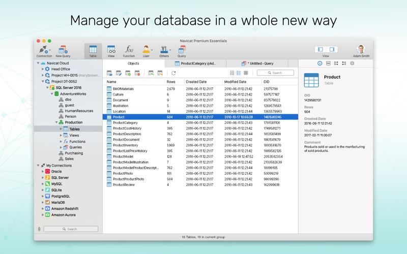 Navicat Premium Essentials 12 Screenshots