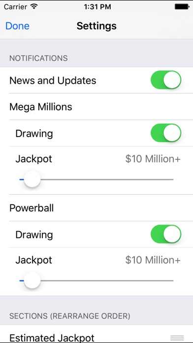 Mega Millions + Powerball screenshot 5