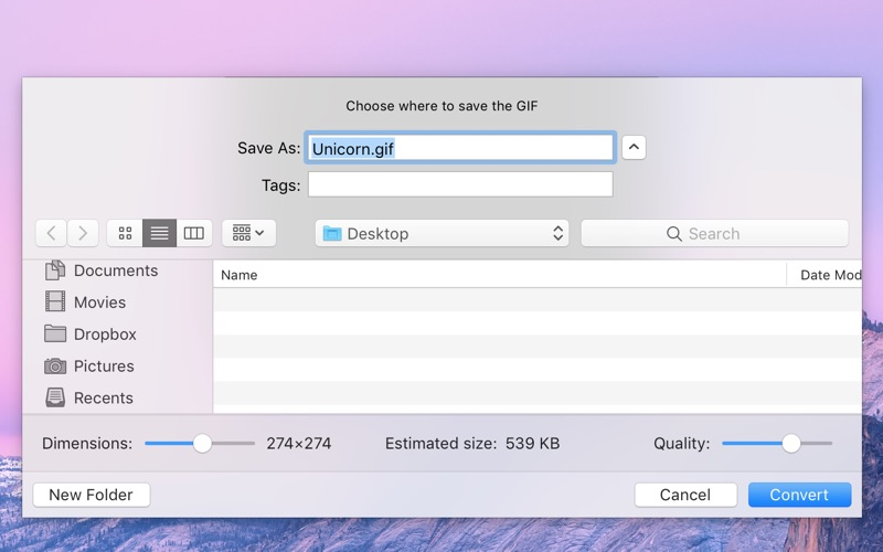 Gifski for Mac