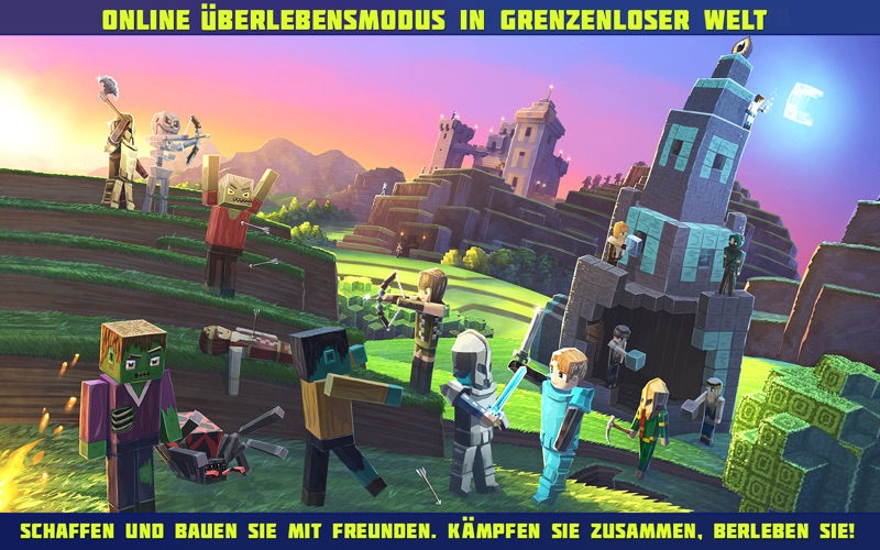 Planet of Cubes Überleben MMO Screenshot