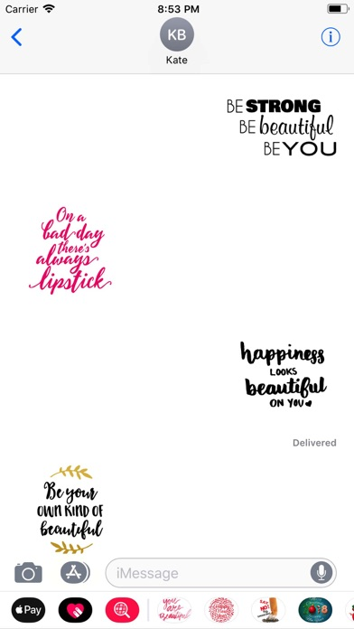 Screenshot for Beauty Love Quote Sticker Pack in United Arab Emirates App Store