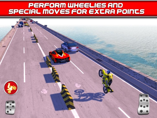 Screenshots of Bike Traffic Race Mania a Real Endless Road Racing Run Game for iPad