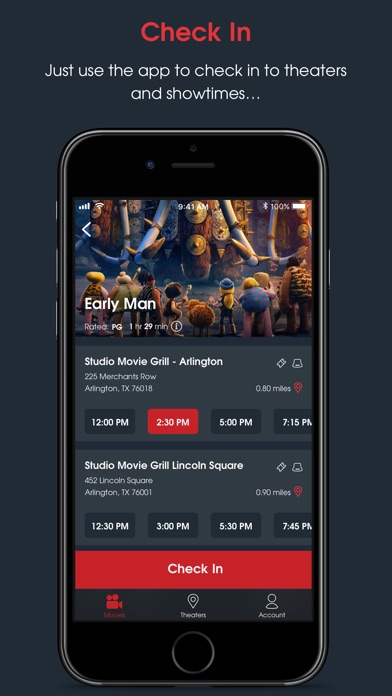 Screenshot 3 for MoviePass's iPhone app'