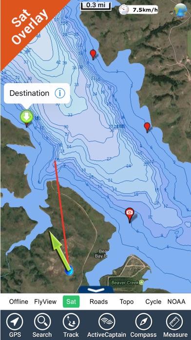 Lake sakakawea fishing charts app insight download for Lake sakakawea fishing