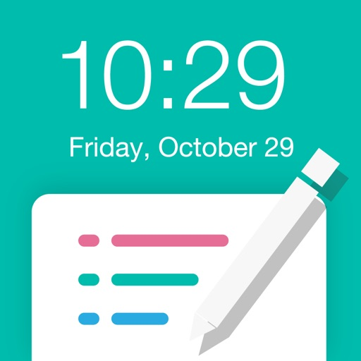 Reminders for Lockscreen iOS App