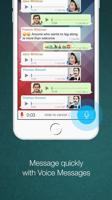 Screenshots of WhatsApp for iPhone