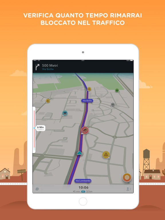 Waze GPS & Traffico live Screenshot