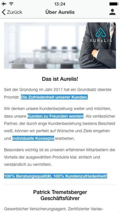 Screenshot von Aurelis GmbH2